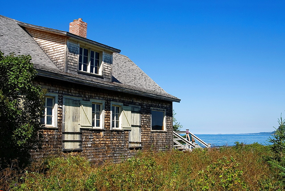 Feindel House, Damase cove, Bic National Park, Quebec province, Canada, North America