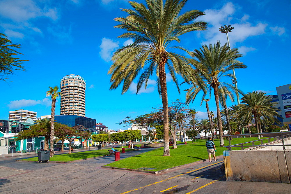Parque Santa Catalina square Las Palmas de Gran Canaria city Gran Canaria island the Canary Islands Spain Europe