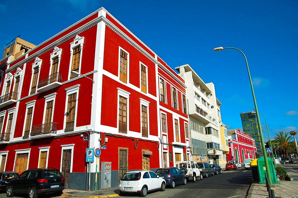 Calle Eduardo Benot street Santa Catalina district Las Palmas de Gran Canaria city Gran Canaria island the Canary Islands Spain Europe