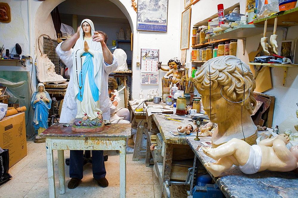 Workshop of Jose Lucena Gomez,sculptor Calle pureza 28 Triana quarter,Sevilla,Spain