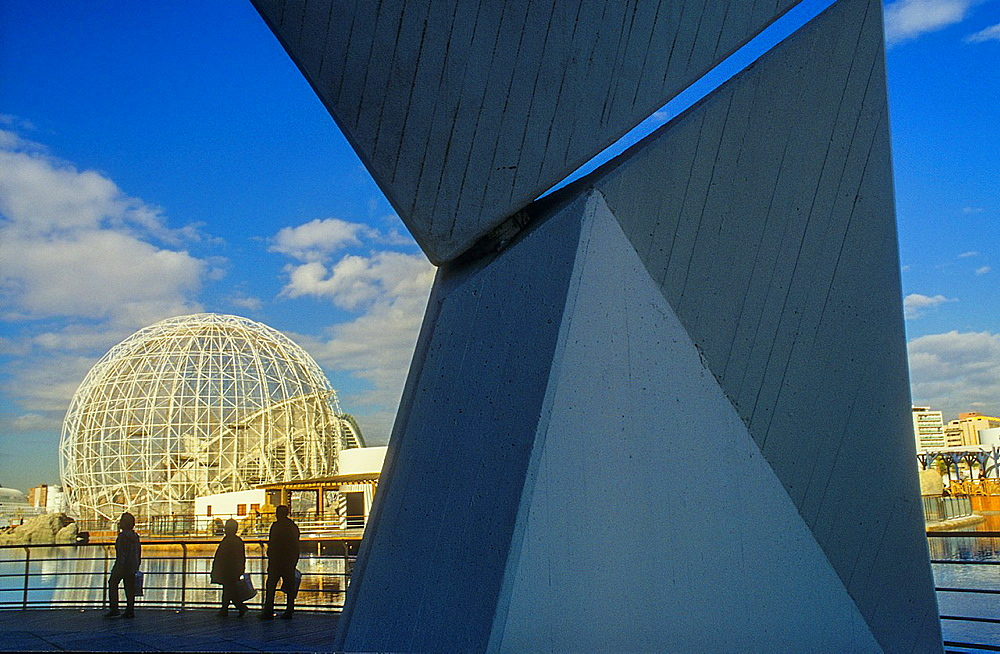 Oceanografic by Felix Candela, in background wetlands cage,City of Arts and Sciences by S Calatrava Valencia Spain