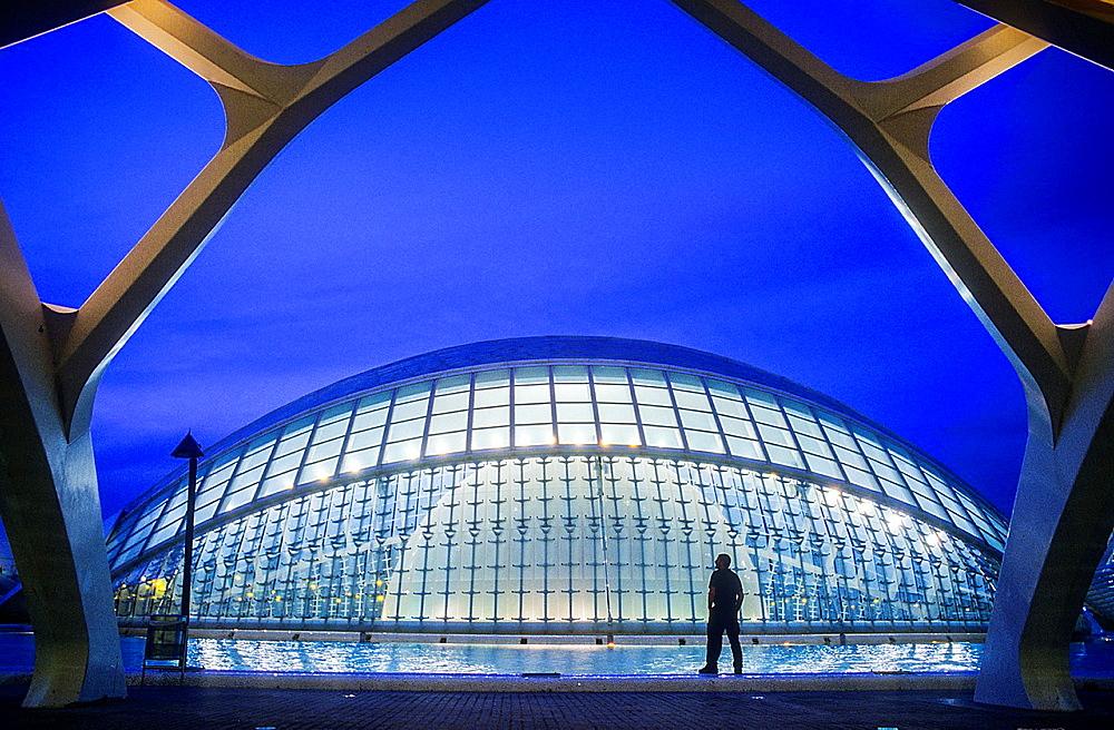 The Hemisferic,City of Arts and Sciences, by S Calatrava Valencia Spain