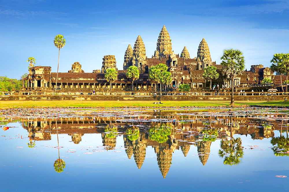 Angkor, monumental city which remained after the old capital of Khmer Empire, Angkor Wat Temple, Cambodia, Asia UNESCO
