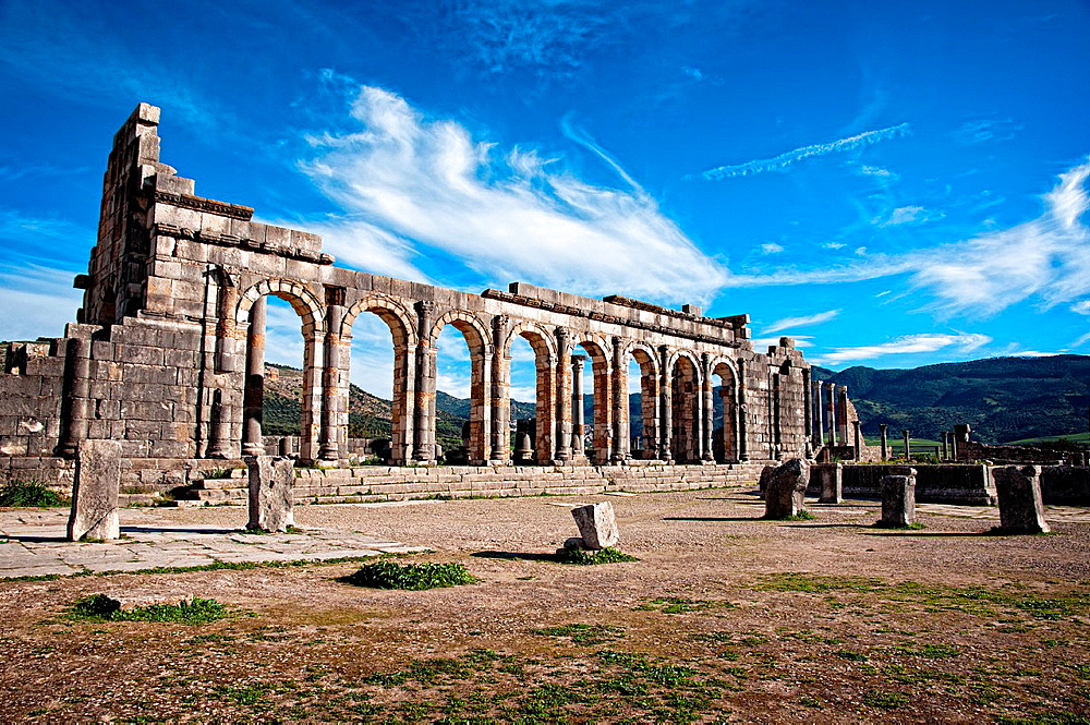 Archeological Site, Roman Ruins, Volubilis. Morocco