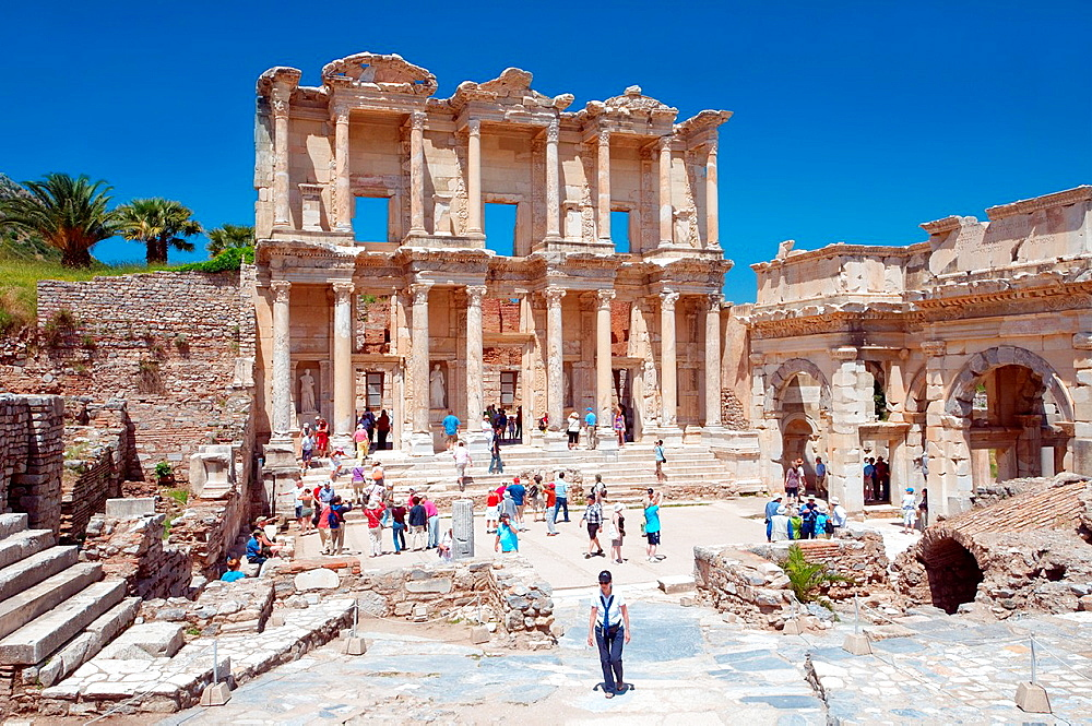 Library of Celsus, antique city of Ephesus, Efes, Turkey, Western Asia