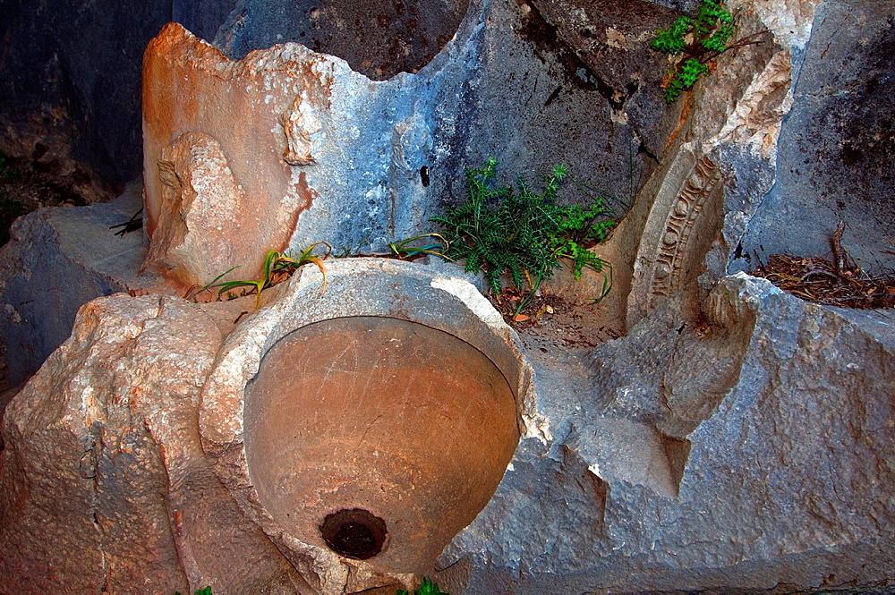 Tomb of Alcetas, Antique city of Termesos Termessus Taurus Mountain, Turkey, Western Asia