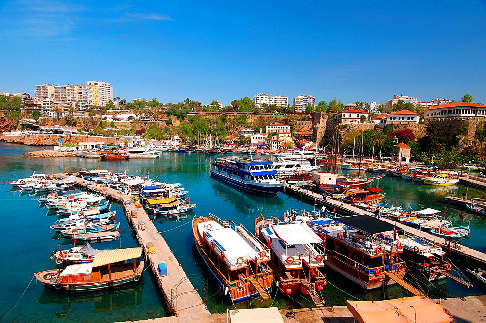 ships in the harbour, Antalya, Turkey, Western Asia