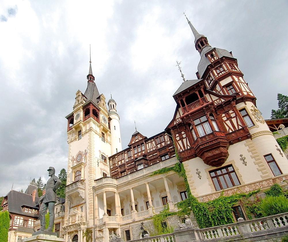 Peles Castle Castelul Peles, Transylvania, Romania, Europe