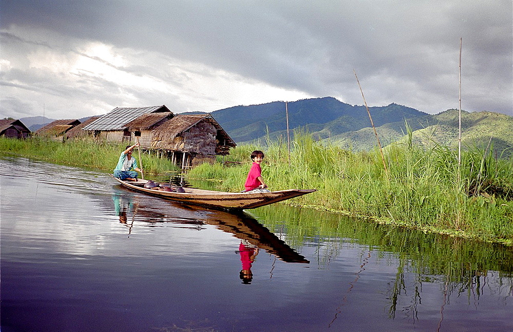 Life in stilt houses, Inle Lake, Myanmar, Burma