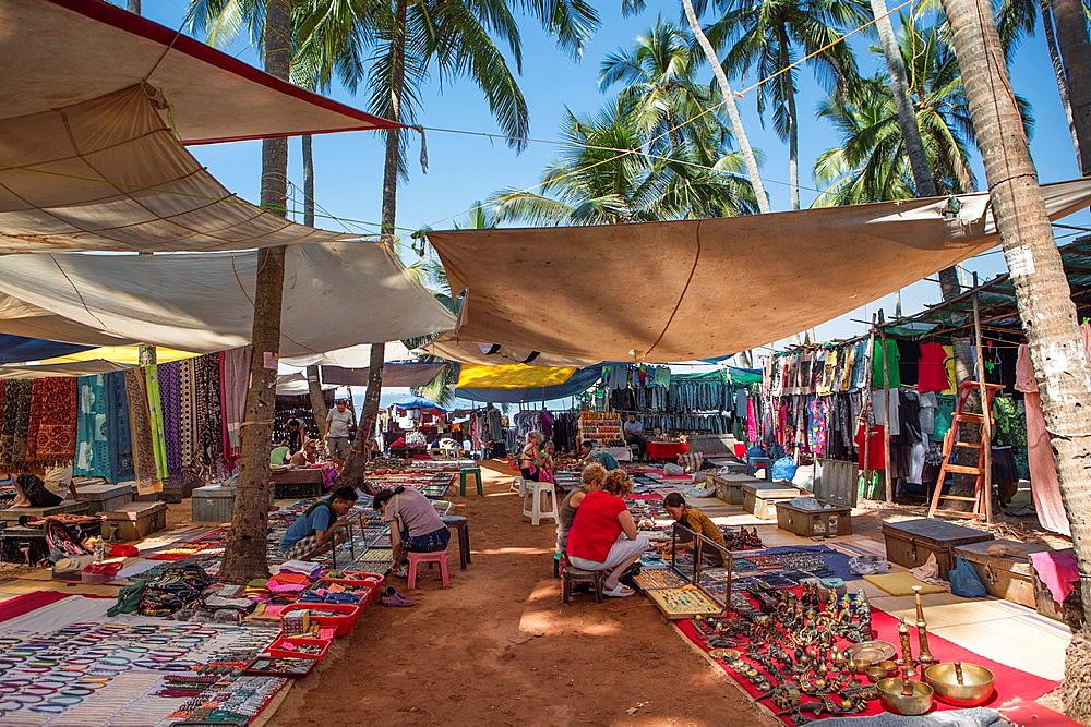 India, Goa State,Anjuna Flee Market