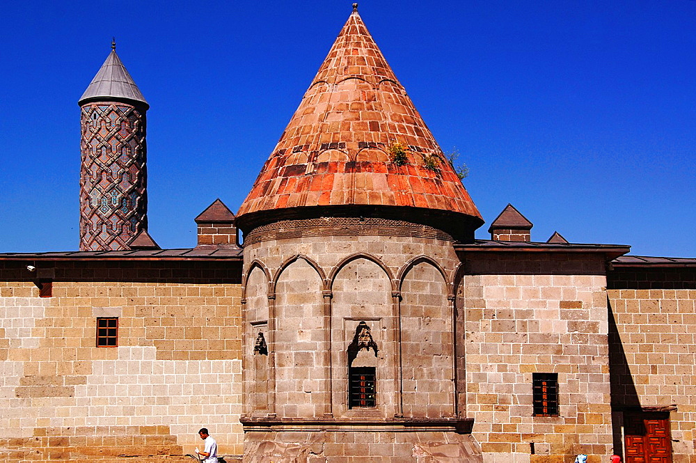 Yakutive Medresesi -this High school was built in 1308 by the Seljuk workers under the instigation of the Mongols-, Erzurum, Anatolia, Turkey