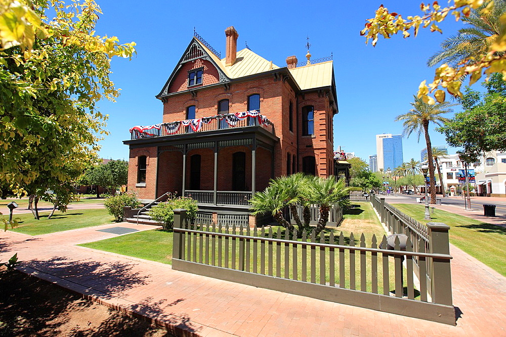 Rosson House Museum in historic Heritage Square in Downtown Phoenix  Arizona  USA.