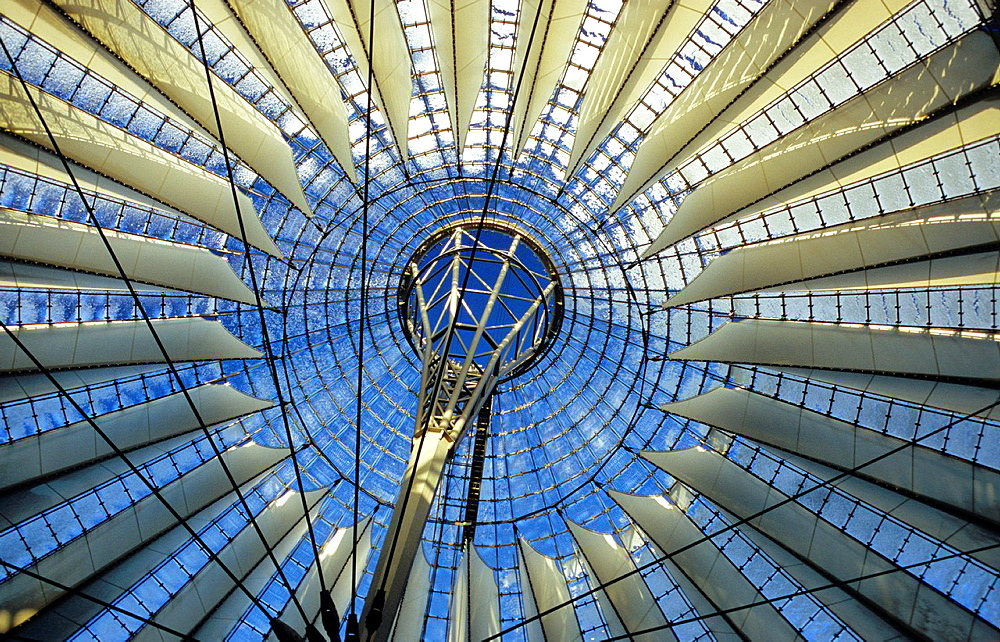 Dome of the Sony Center in Berlin