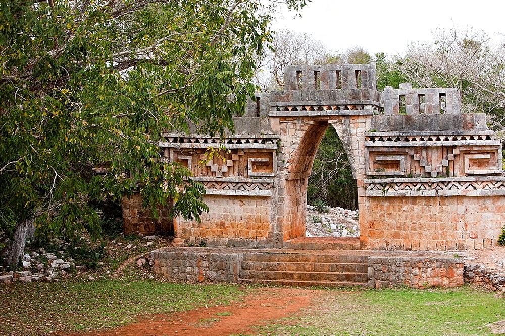 Mayan arqueological site Labna, Peninsula Yucatan, Mexico.