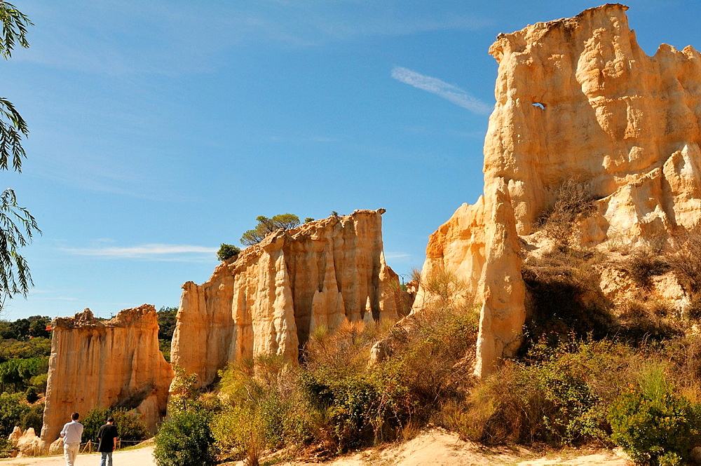 France, Pyrenees-Orientales, organs of Ille sur Tet, carved by water for 5 million years.
