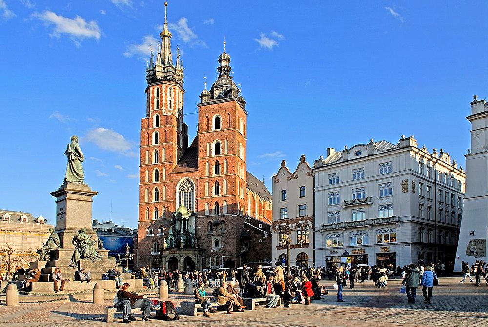 St. Mary's Basilica, Krakow, Poland, Central Europe