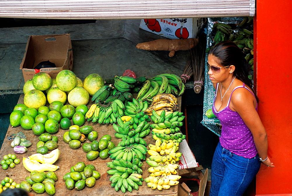 market of Victoria, Mahe island, Republic of Seychelles, Indian Ocean