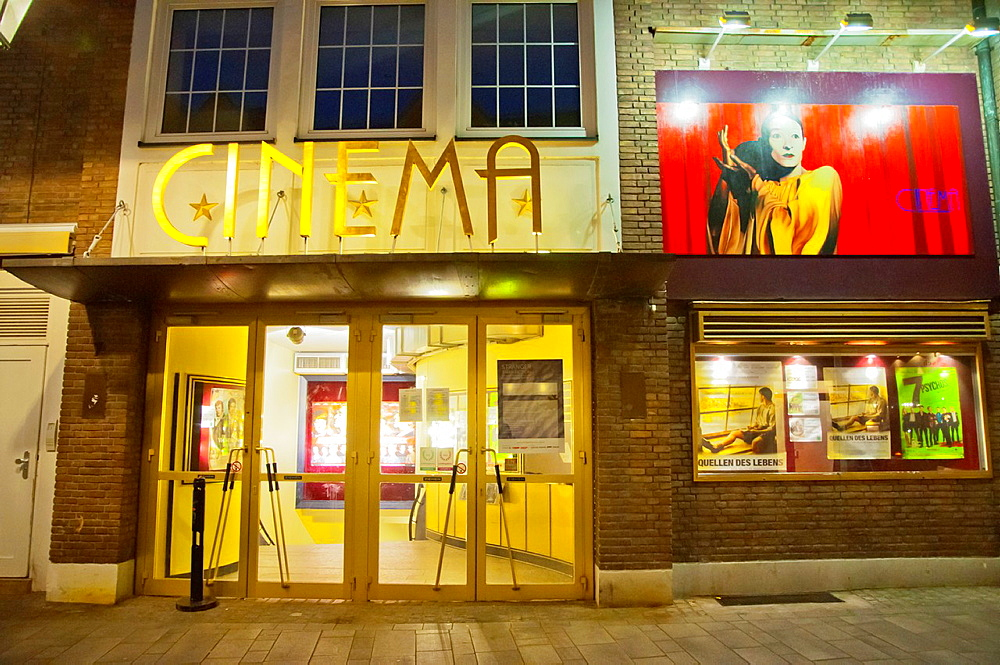 Cinema movie theater Altstadt the old town Dusseldorf city North Rhine Westphalia region western Germany Europe.