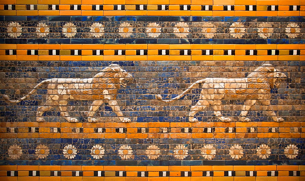 Ishtar Gate of Babylon, Pergamon Museum, Museum Island, Berlin, Germany, Europe.
