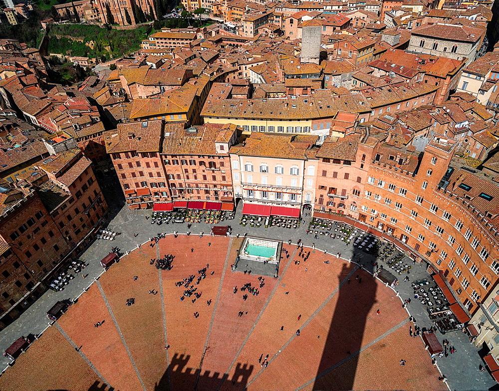 Piazza del Campo in Siena, Italy.