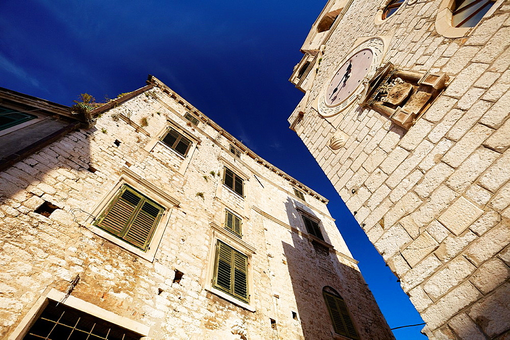 Croatia, Sibenik, architecture of the Old Town, Dalmatia, Croatia.