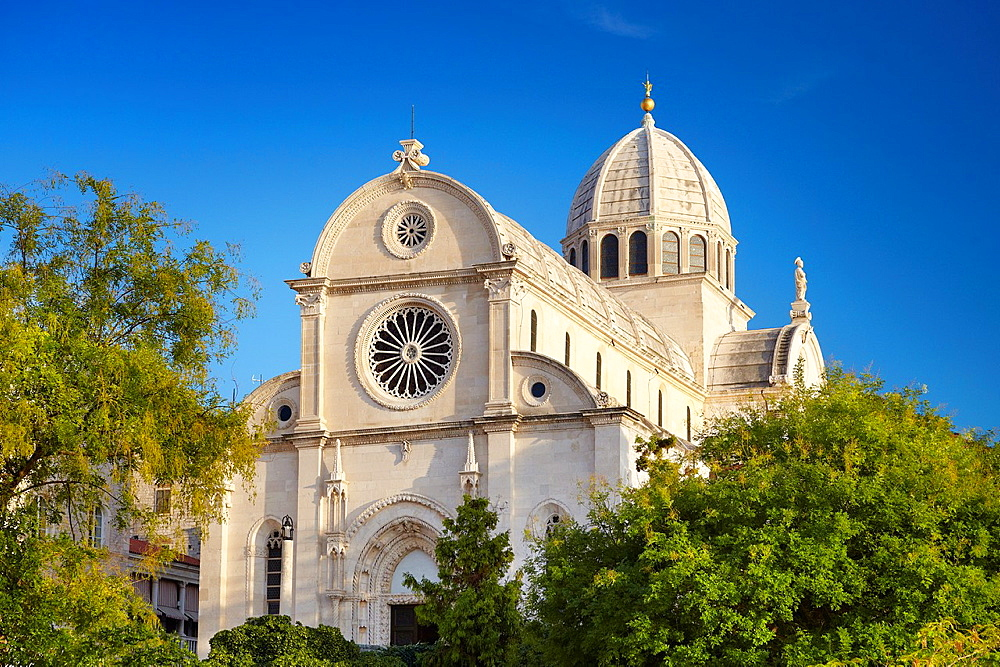 Croatia, Sibenik Old Town, gothic Cathedral of St.James, Dalmatia, Croatia , UNESCO.