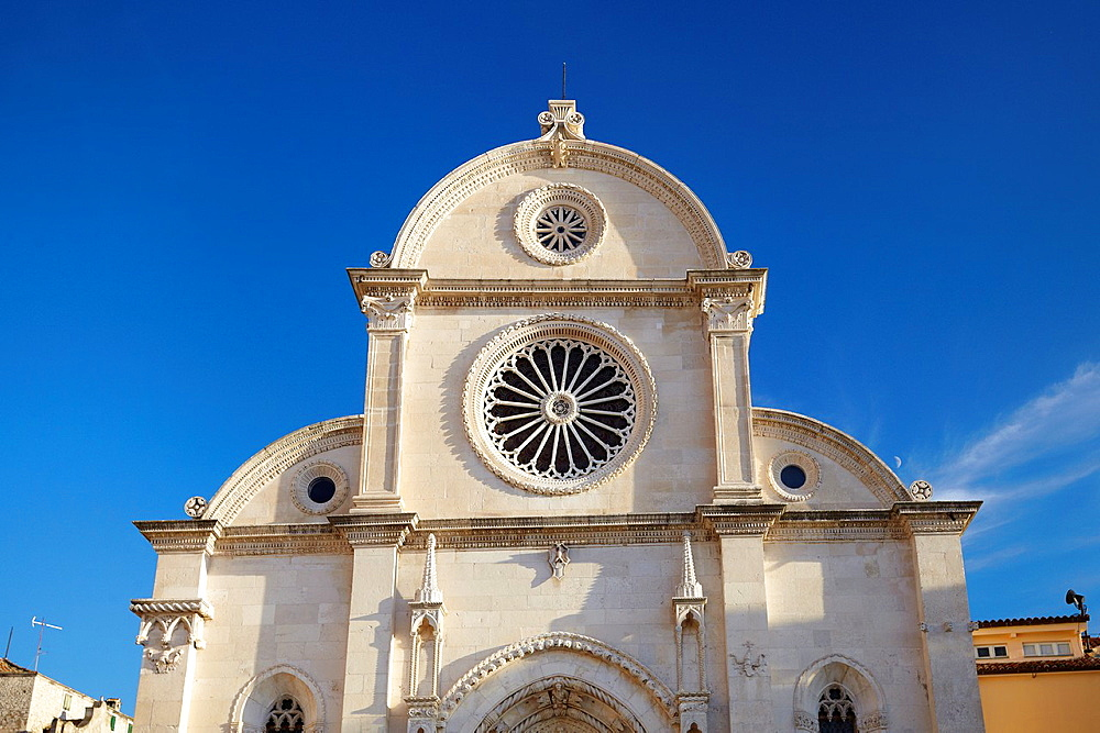 Croatia, Sibenik Old Town, gothic Cathedral of St.James, Dalmatia, Croatia.