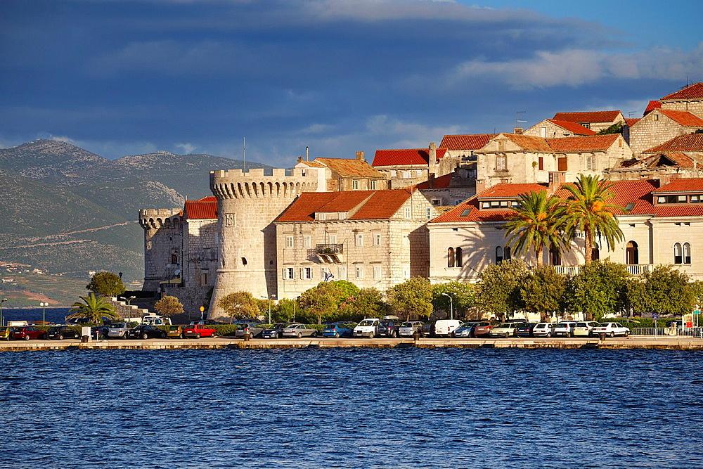 Croatia, Korcula Island, Korcula Old Town, Dalmatia, Croatia.