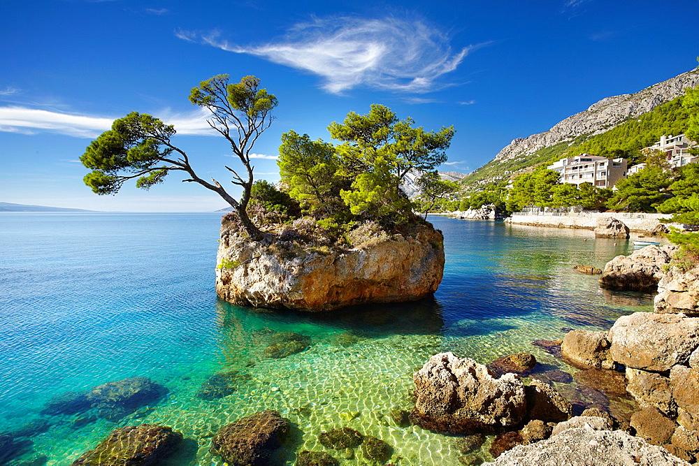 Croatia, Makarska Riviera Coast, Brela Stone, Dalmatia, Croatia.