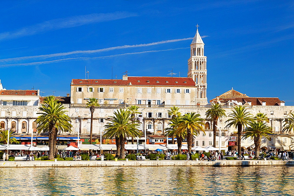 Croatia, Split, Old Town, view of the Diocletian Palace, Dalmatia, Croatia, UNESCO.