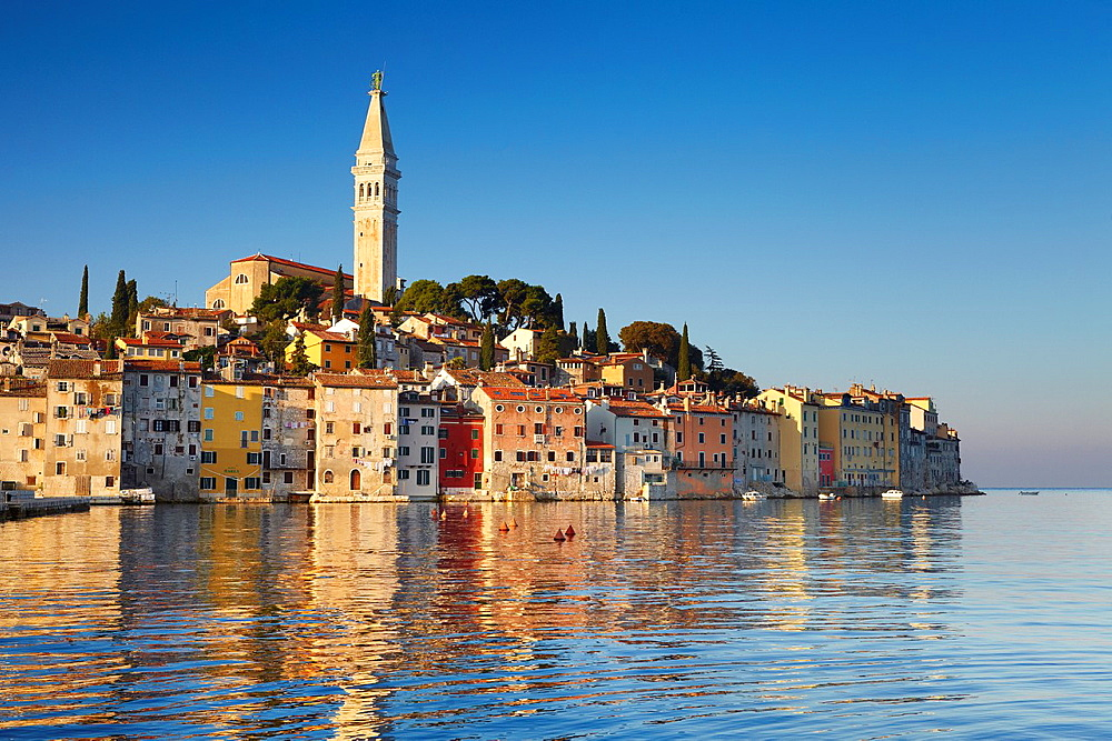 Croatia, Rovinj, view from the sea, Istria, Croatia.