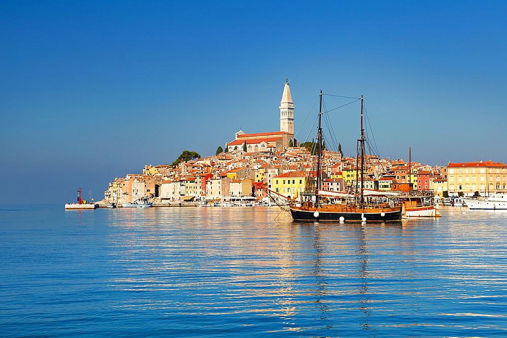 Croatia, Rovinj Old Town, Istria, Croatia.