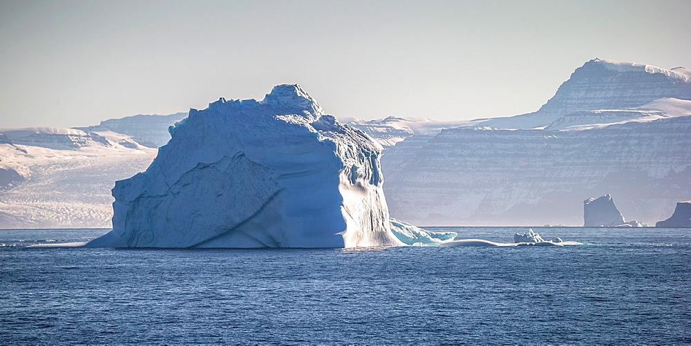 Icebergs, Scoresbysund, Greenland.