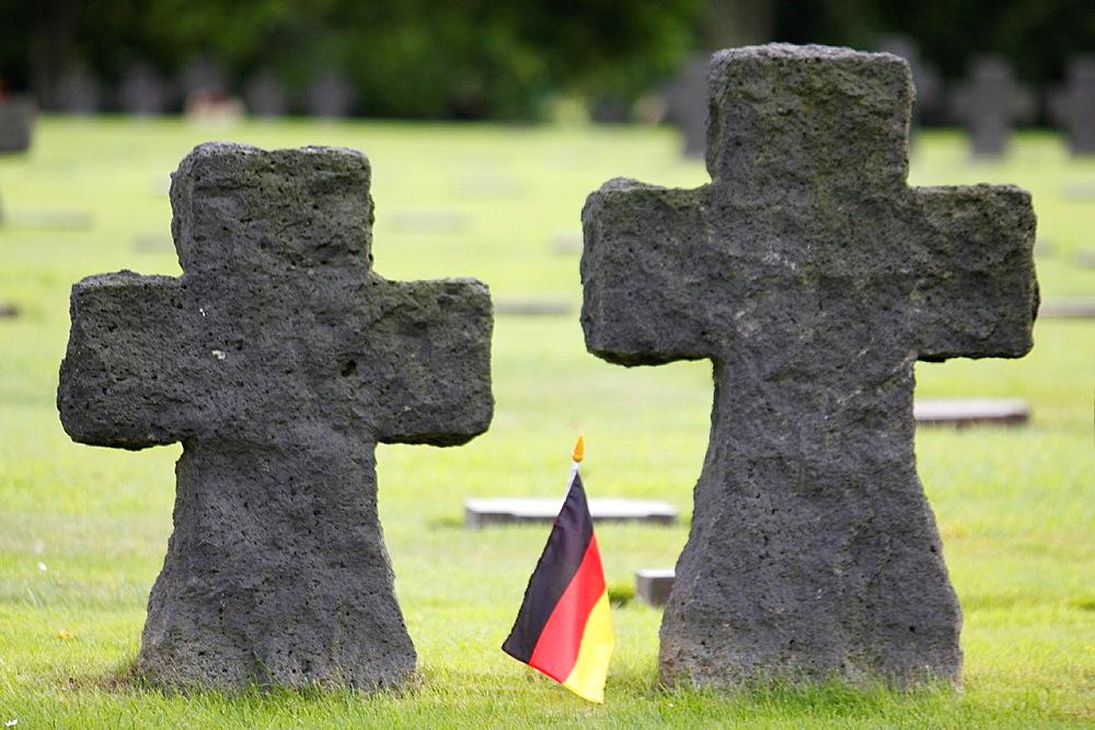 German military cemetery of World War II, La Cambe, Calvados, Basse-Normandie, France.