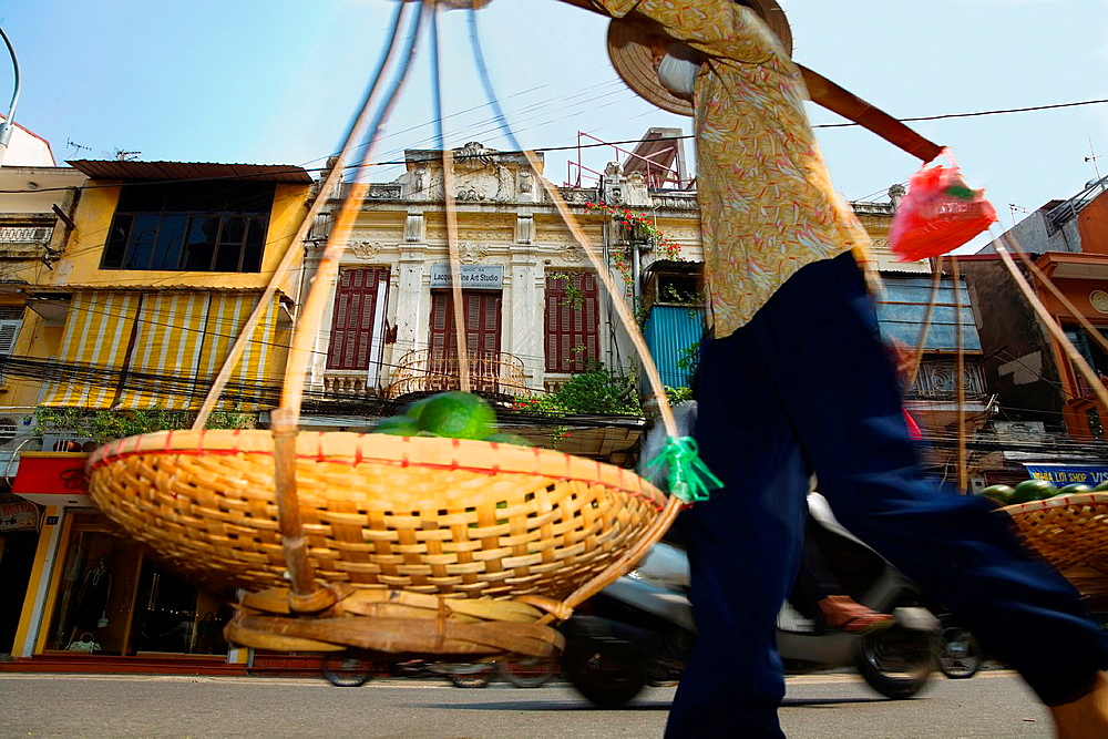 Street vendor in hanoi. vietnam