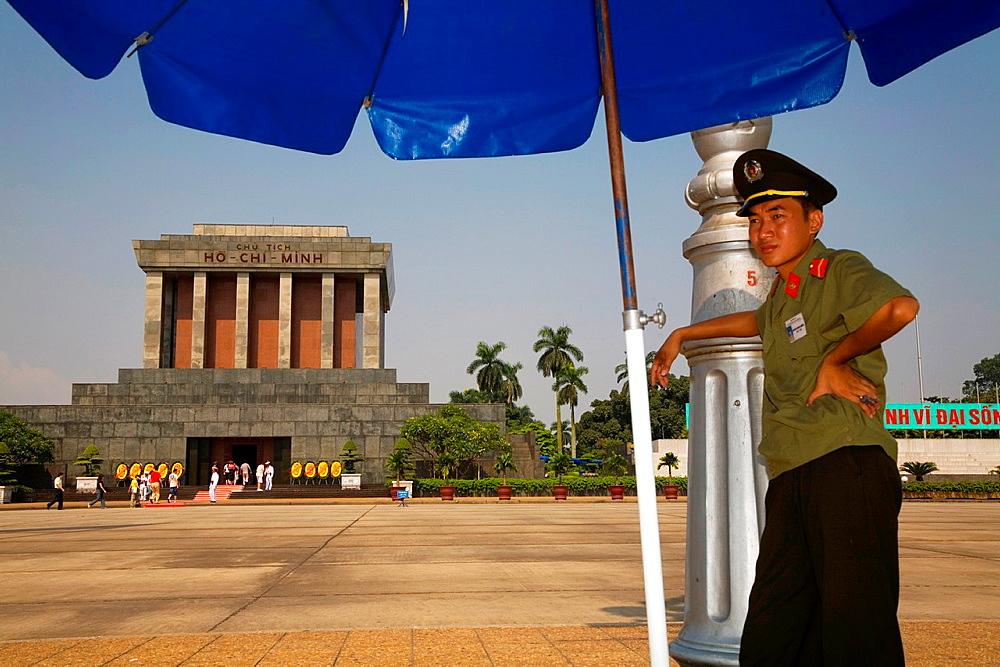 Ho chi minh mausoleum in hanoi. vietnam