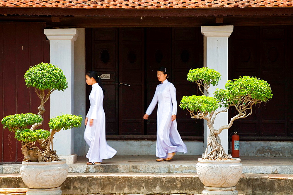 Temple of literature in hanoi. vietnam