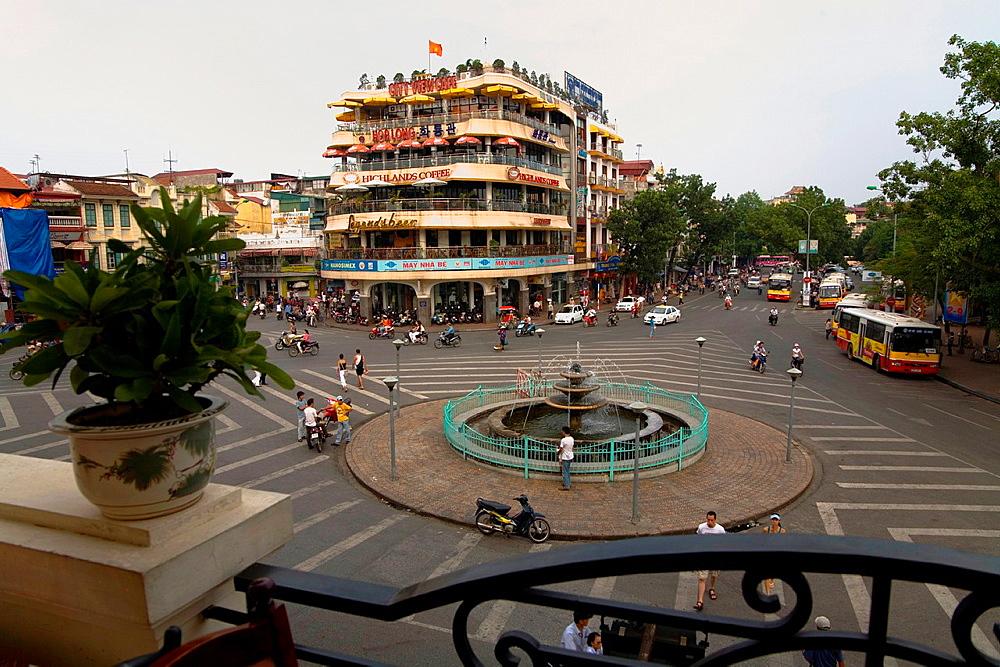 Hang duong street in hanoi. vietnam