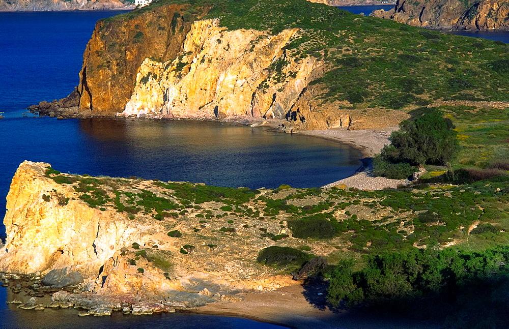 empty bay at Skyros, greece