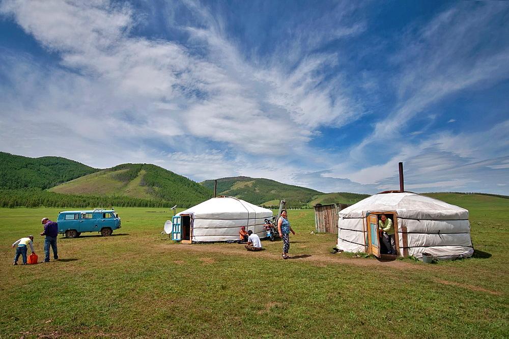 Living on the steppe. Mongolia, Arkhangai.