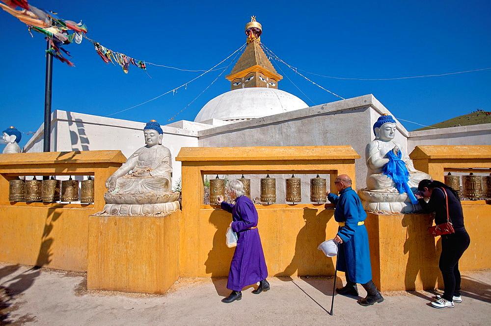 Stupa at Amarbayasgalant monastery. Mongolia, Selenge, Amarbayasgalant Khiid.