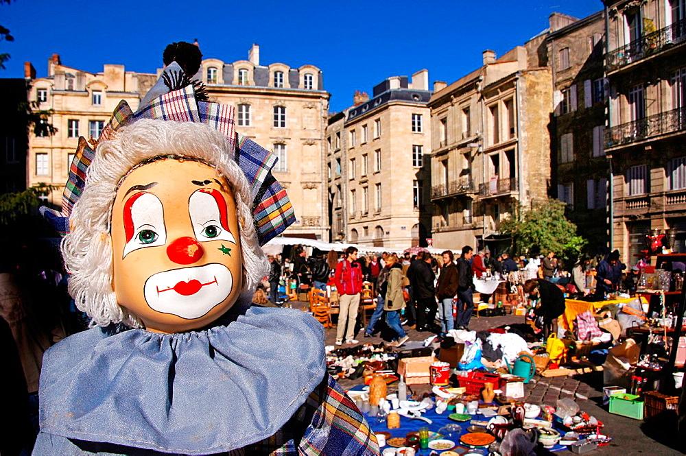 France-Aquitaine-Gironde- Sunday market, Saint Michel area, at Bordeaux.