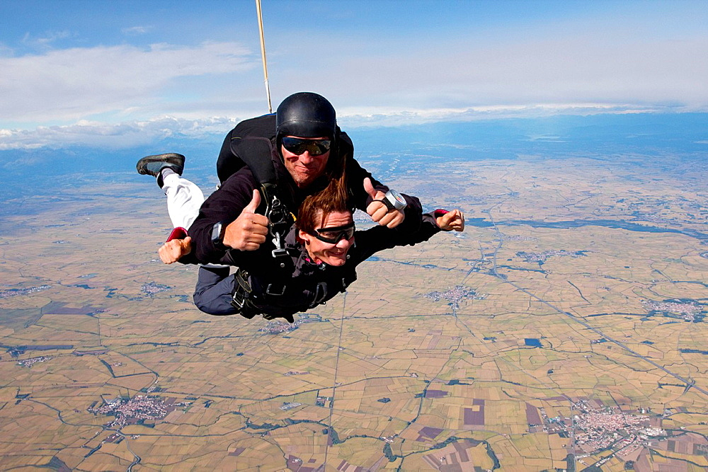Tandem skydive over Casale, Italy