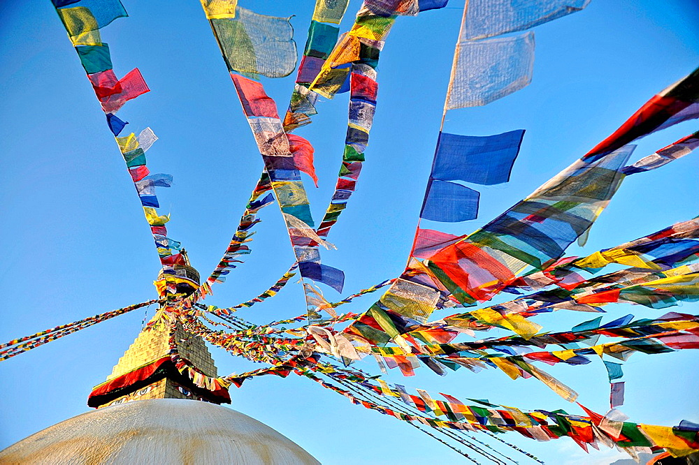 Tibetan prayer flags, Kathmandu, Nepal