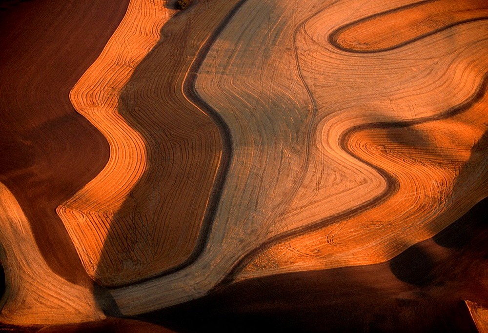 The undulating hills of the Palouse in eastern Washington