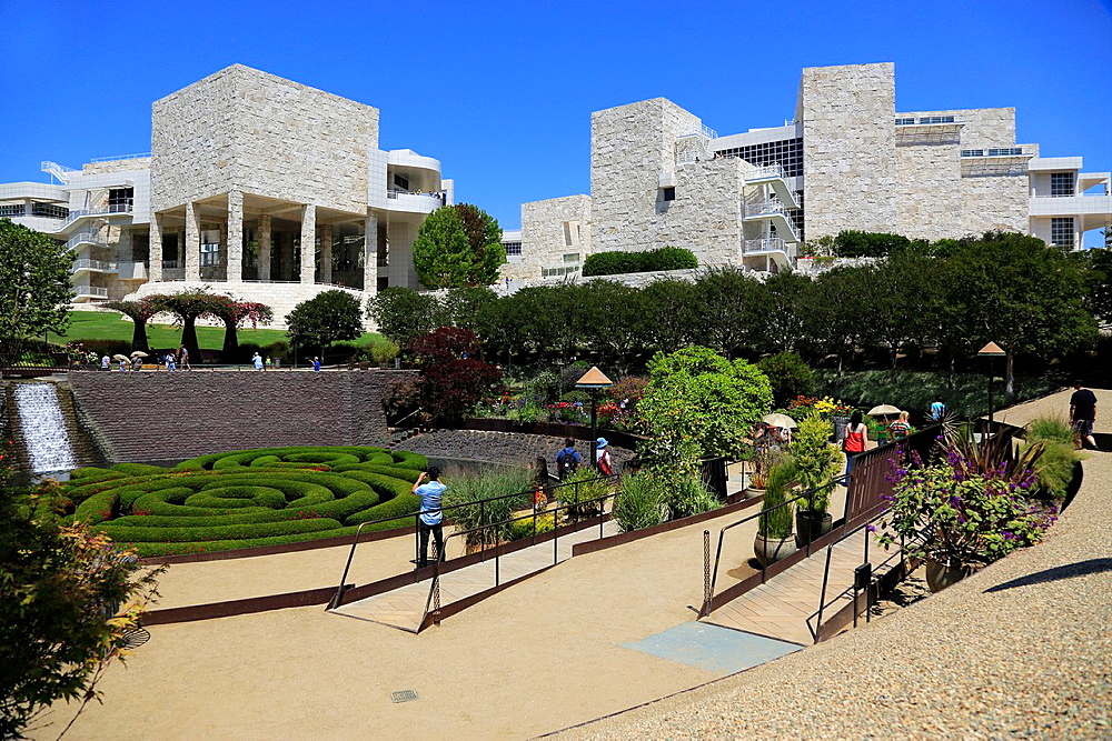 The Central Garden of Getty Center. Los Angeles. California. USA.