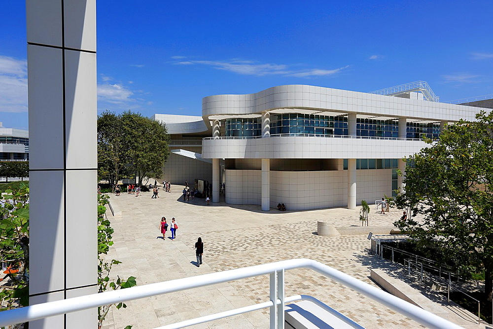 Exhibitions Pavilion in Getty Center. Los Angeles. California. USA.