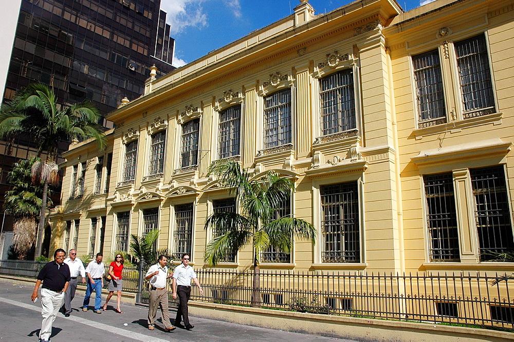 Sao Paulo, Brazil, colonial building along the Avenida Paulista