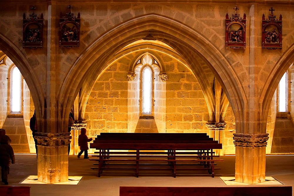 Ujue church, Navarre. Spain