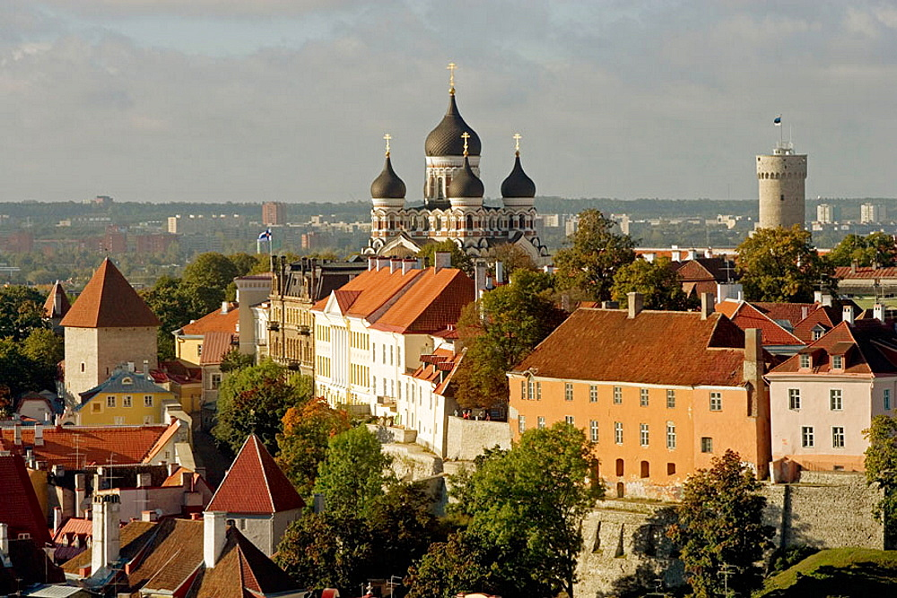 View from St, Olaf church, Tallinn, Estonia. - 817-44385
